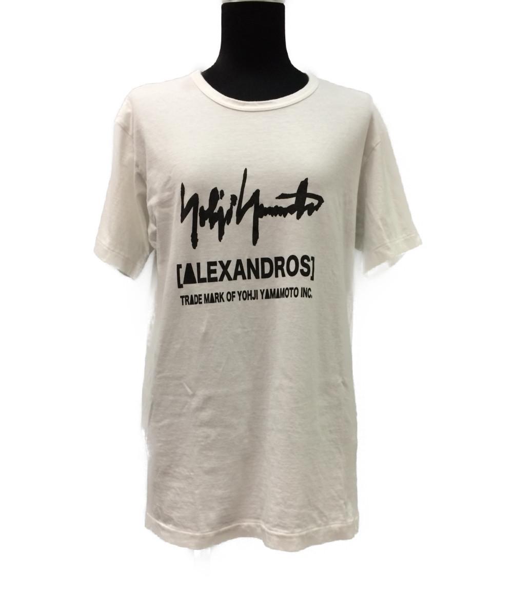 【中古】美品 ヨウジヤマモト 半袖Tシャツ ALEXANDROS レディース SIZE 2 (M) YOHJI YAMAMOTO