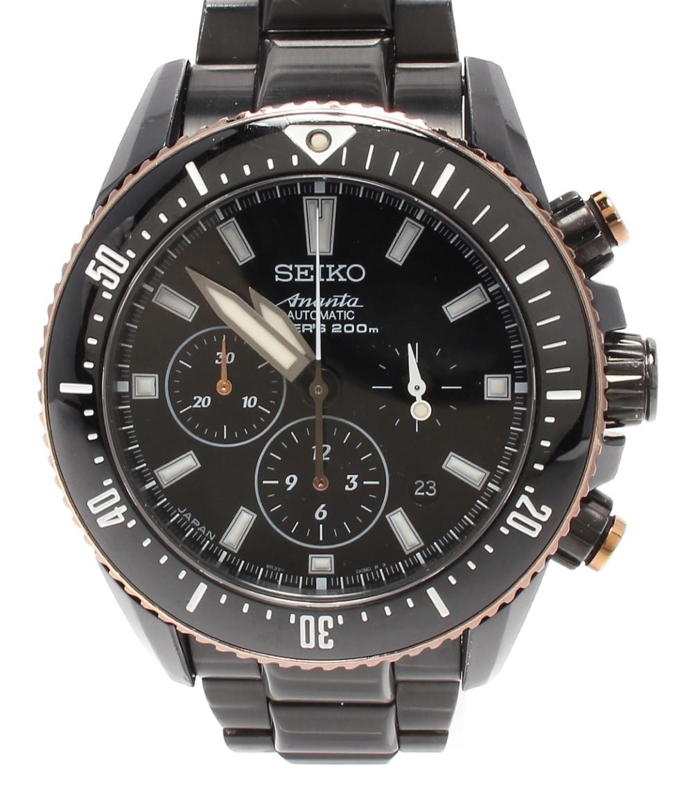 【中古】セイコー 腕時計 アナンタ 130周年アニバーサリー ブライツ 自動巻き ブラック SAEK015 メンズ SEIKO