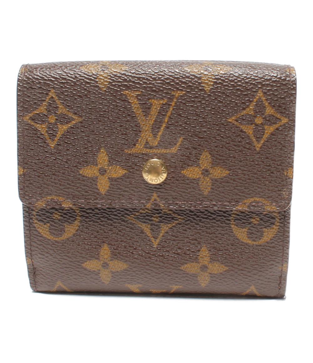 【中古】ルイヴィトン Wホック 二つ折り財布 ポルトモネ カルトクレディ モノグラム M61652 レディース Louis Vuitton