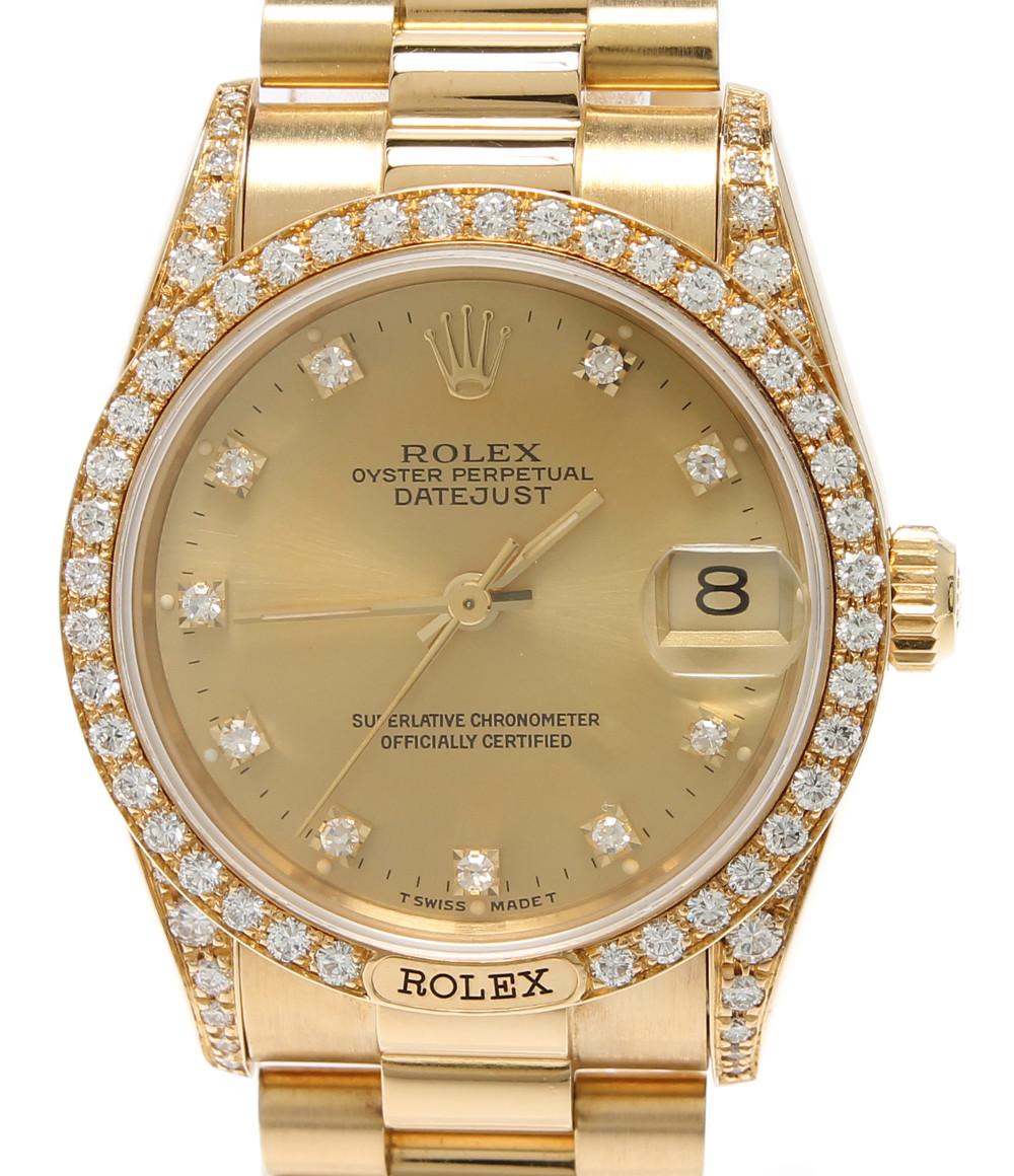 納得できる割引 【】ロレックス 腕時計 デイトジャスト 自動巻き ゴールド 68158 ユニセックス ROLEX, アロール21 e009237d