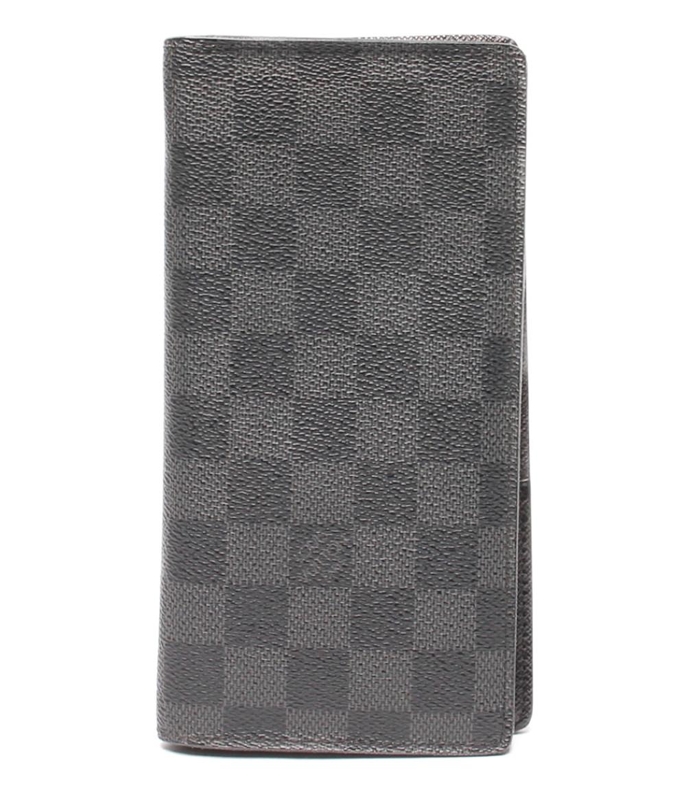 【5/5全品ポイント10倍】【中古】美品 ルイヴィトン 長財布 ポルトフォイユプラザ ダミエグラフィット N62665 メンズ Louis Vuitton