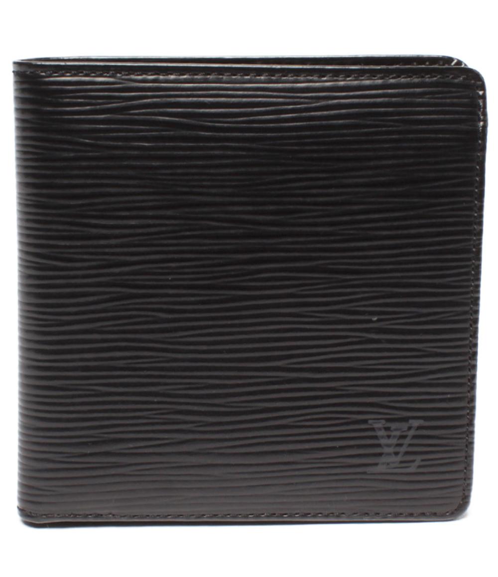 【中古】ルイヴィトン 二つ折り財布 ポルトフォイユ・マルコ エピ M63652 メンズ Louis Vuitton