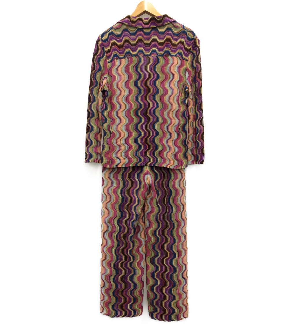 美品 ミッソーニ 透かし編みセットアップ レディース SIZE 44LMISSONI0Pnw8XOk