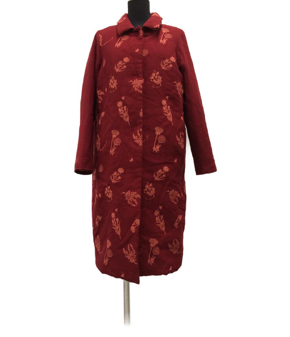 【中古】アンティパスト 収納フード付き 花柄刺繍コート レディース SIZE 1 (S) antipast