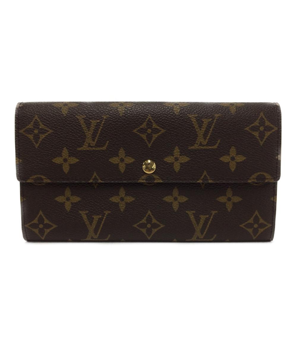 【中古】ルイヴィトン 長財布 ポルトフォイユ・サラ モノグラム N61734 ユニセックス Louis Vuitton