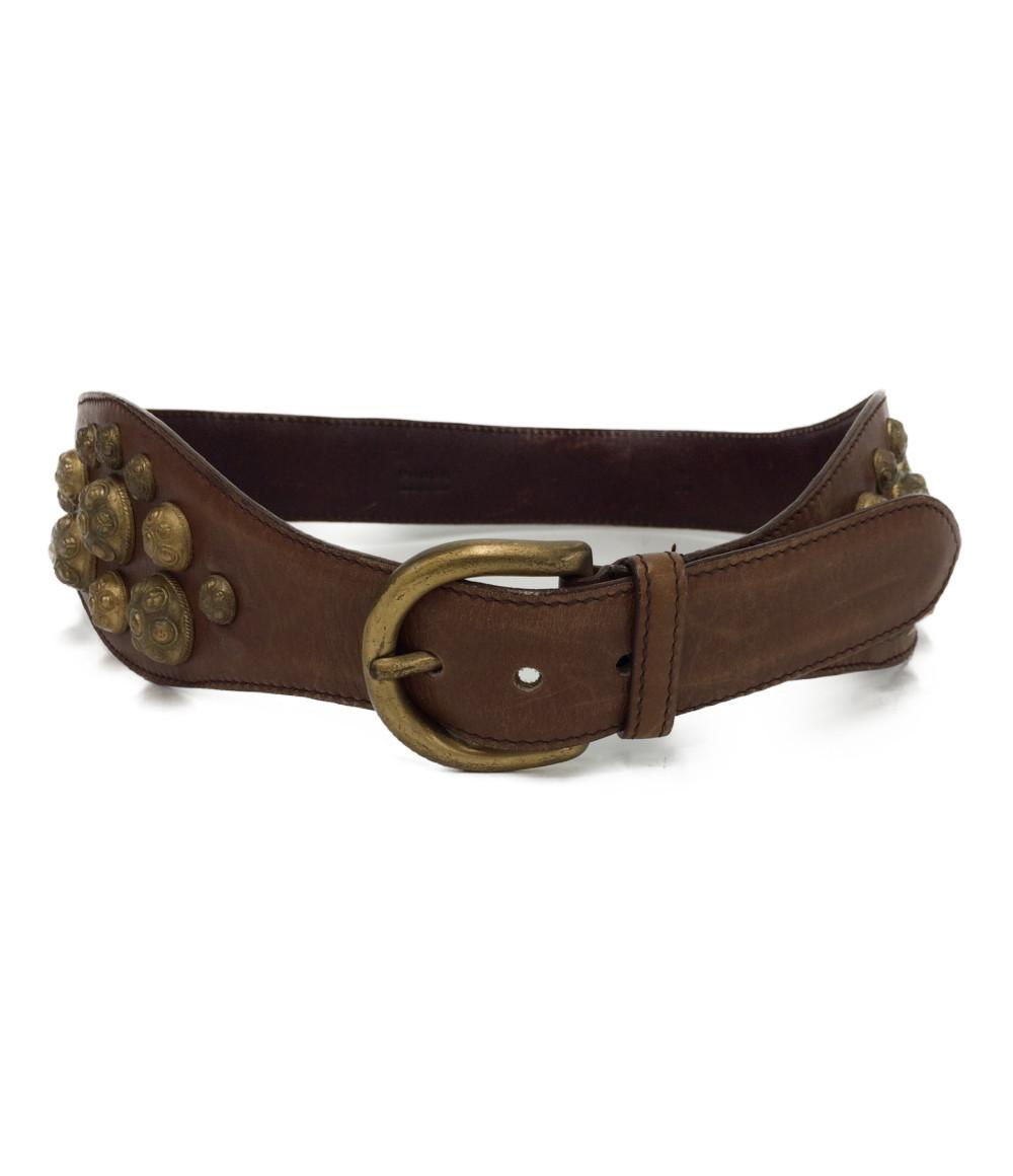 【5/5全品ポイント10倍】【中古】プラダ ベルト leather belt レディース PRADA