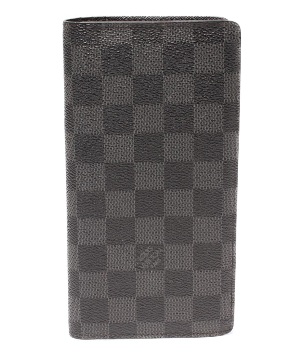 【5/5全品ポイント10倍】【中古】ルイヴィトン 長財布 ポルトフォイユブラザ ダミエグラフィット N62665 メンズ Louis Vuitton