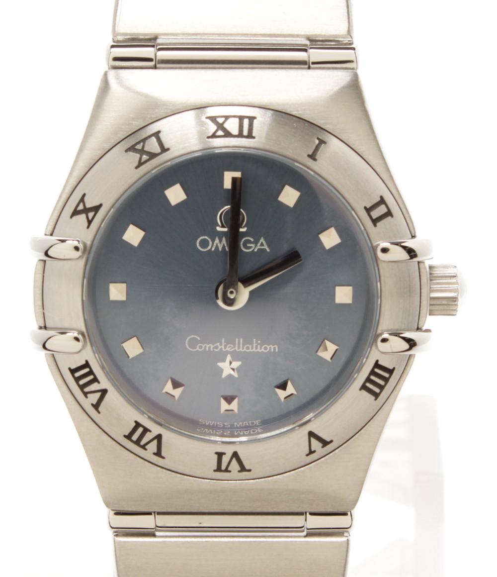 【中古】オメガ 腕時計 コンステレーションミニ クオーツ ブルー 1562.81 レディース OMEGA