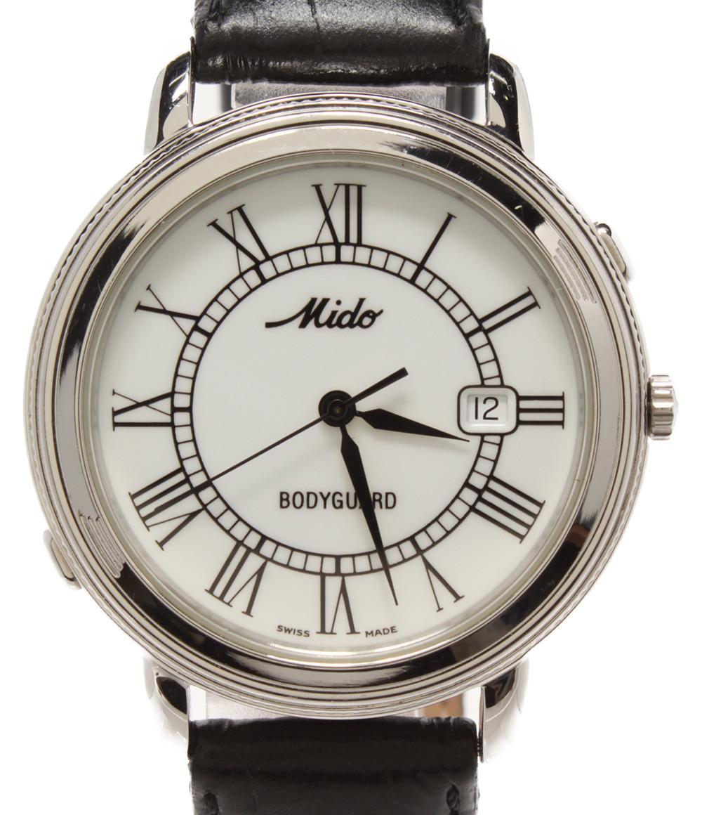 【中古】訳あり ミドー 腕時計 BODYGUARD クオーツ ホワイト メンズ MIDO