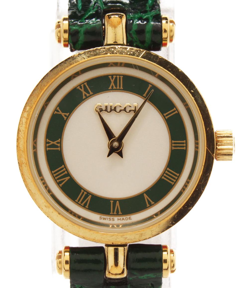 【中古】グッチ 腕時計 クオーツ ホワイト GQ2050 レディース GUCCI