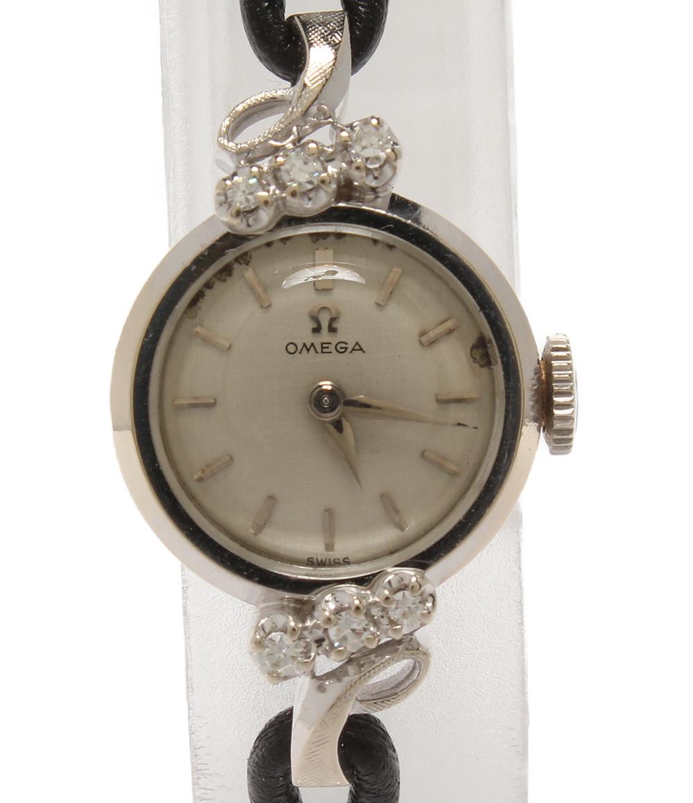 【中古】オメガ 腕時計 14K ダイヤ アンティーク 手巻き レディース OMEGA