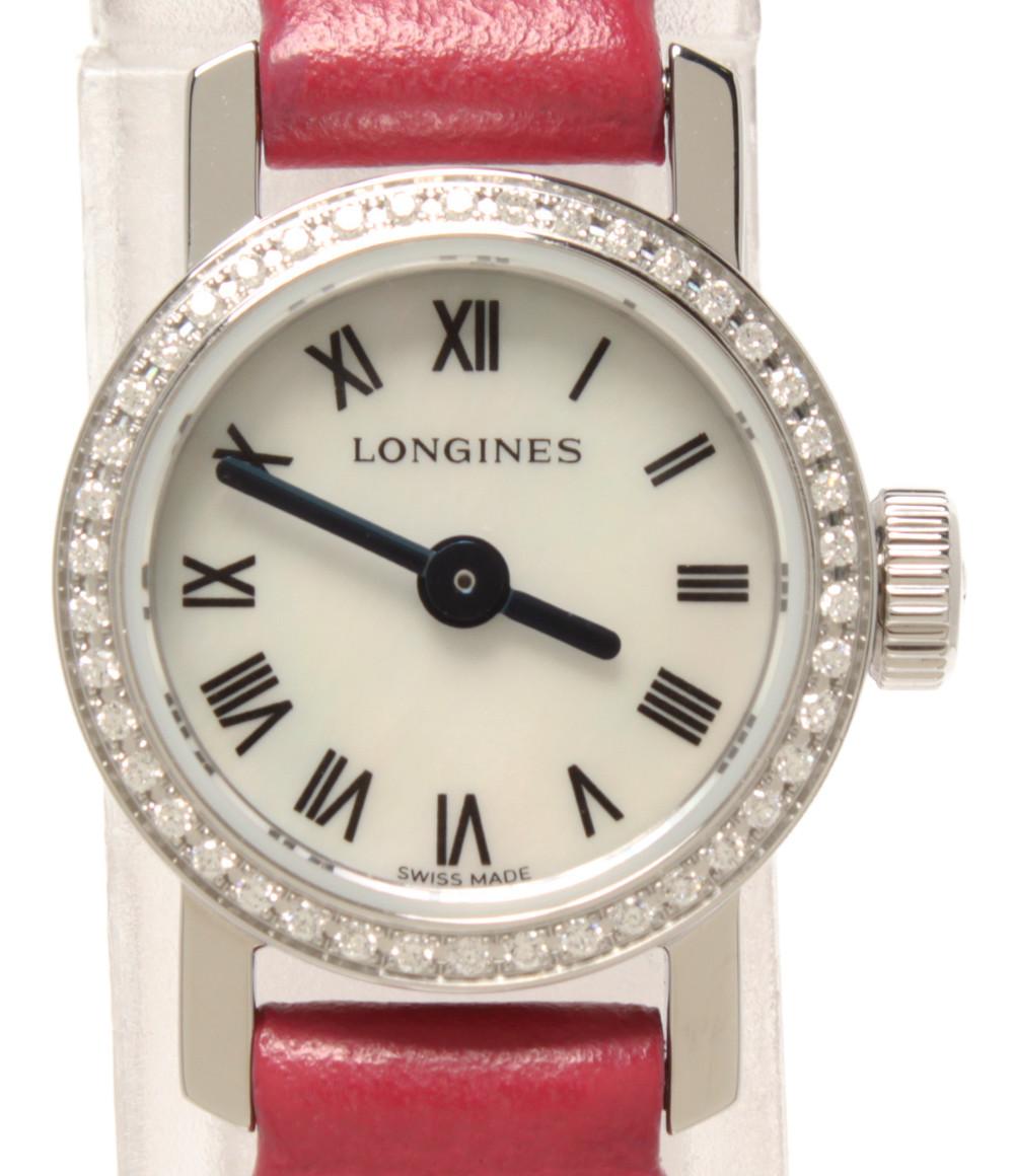 【中古】ロンジン 腕時計 レ グランドクラシック ドゥ クオーツ シェル L2.303.0.8 レディース LONGINES