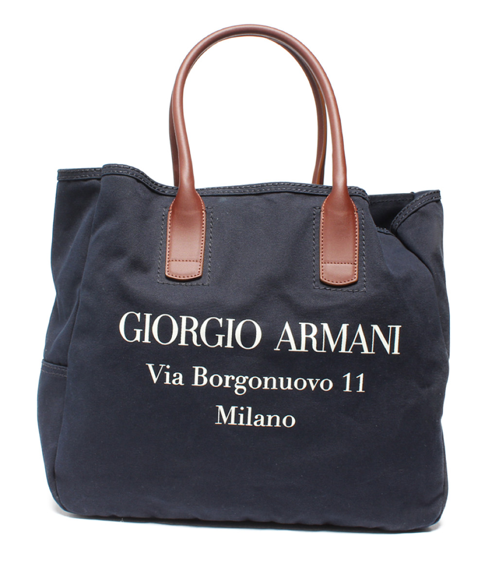 【5/5全品ポイント10倍】【中古】ジョルジオアルマーニ トートバッグ メンズ GIORGIO ARMANI