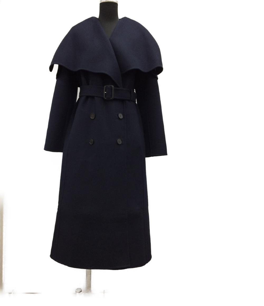 【中古】美品 クリスチャンディオール ベルト付きロングコート レディース SIZE F38 (M) Christian Dior