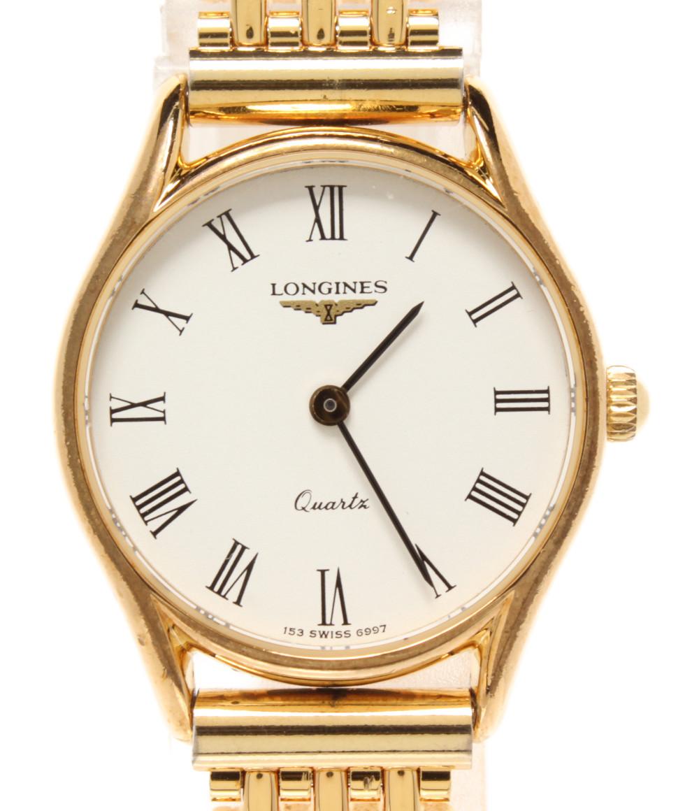 【中古】ロンジン 腕時計 クオーツ ホワイト レディース LONGINES