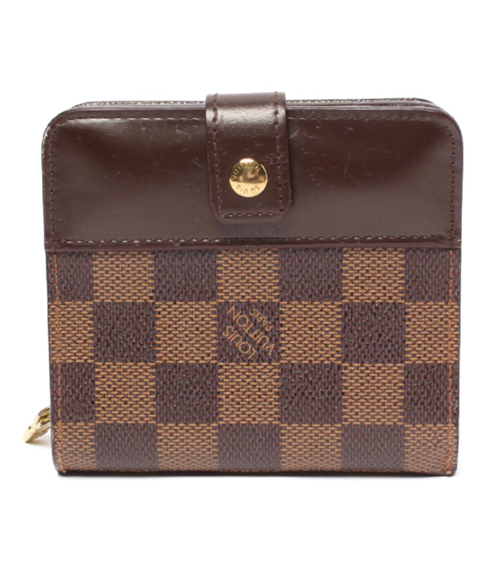 【中古】ルイヴィトン 二つ折り財布 コンパクトジップ ダミエ M61668 レディース Louis Vuitton