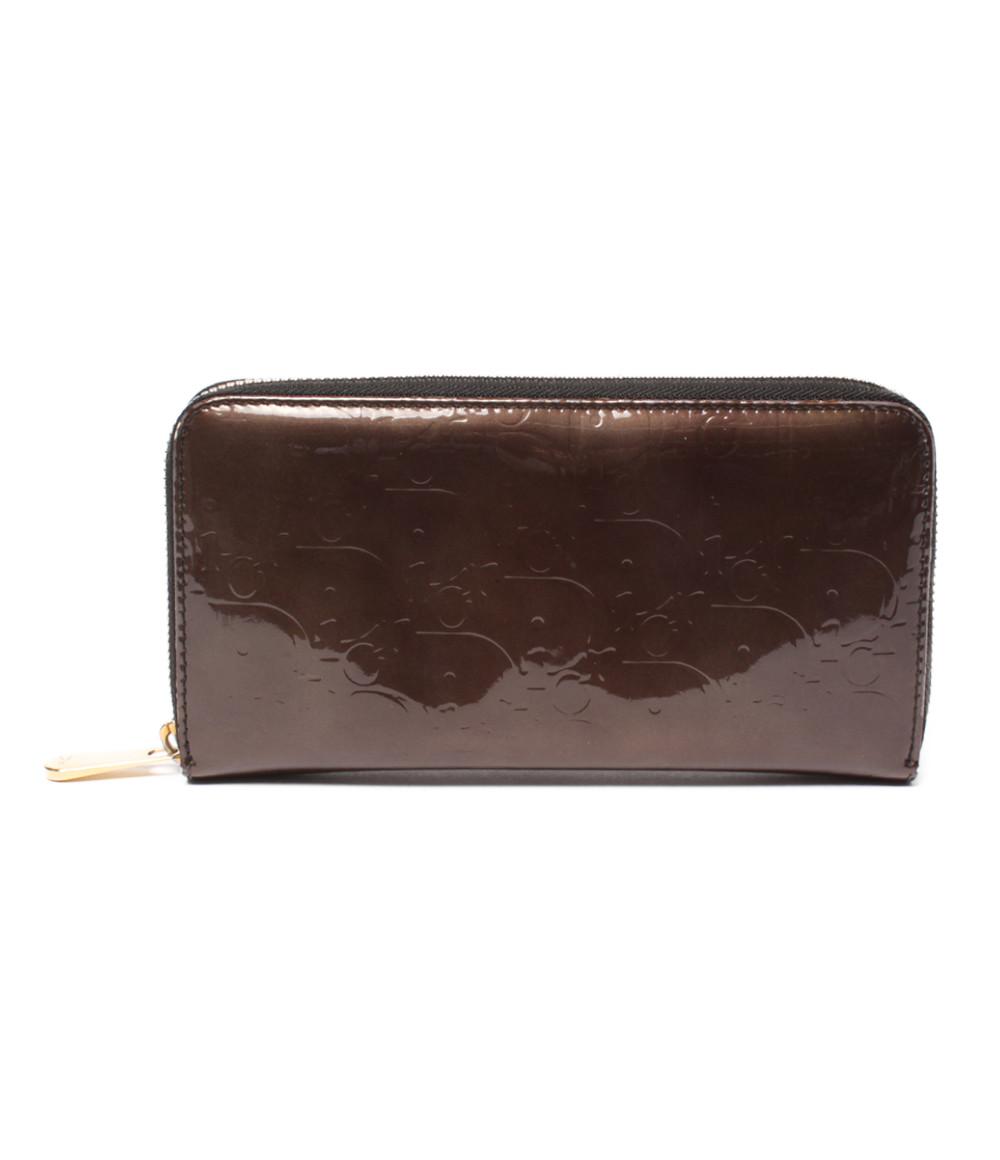 【中古】クリスチャンディオール ラウンドファスナー長財布 レディース Christian Dior