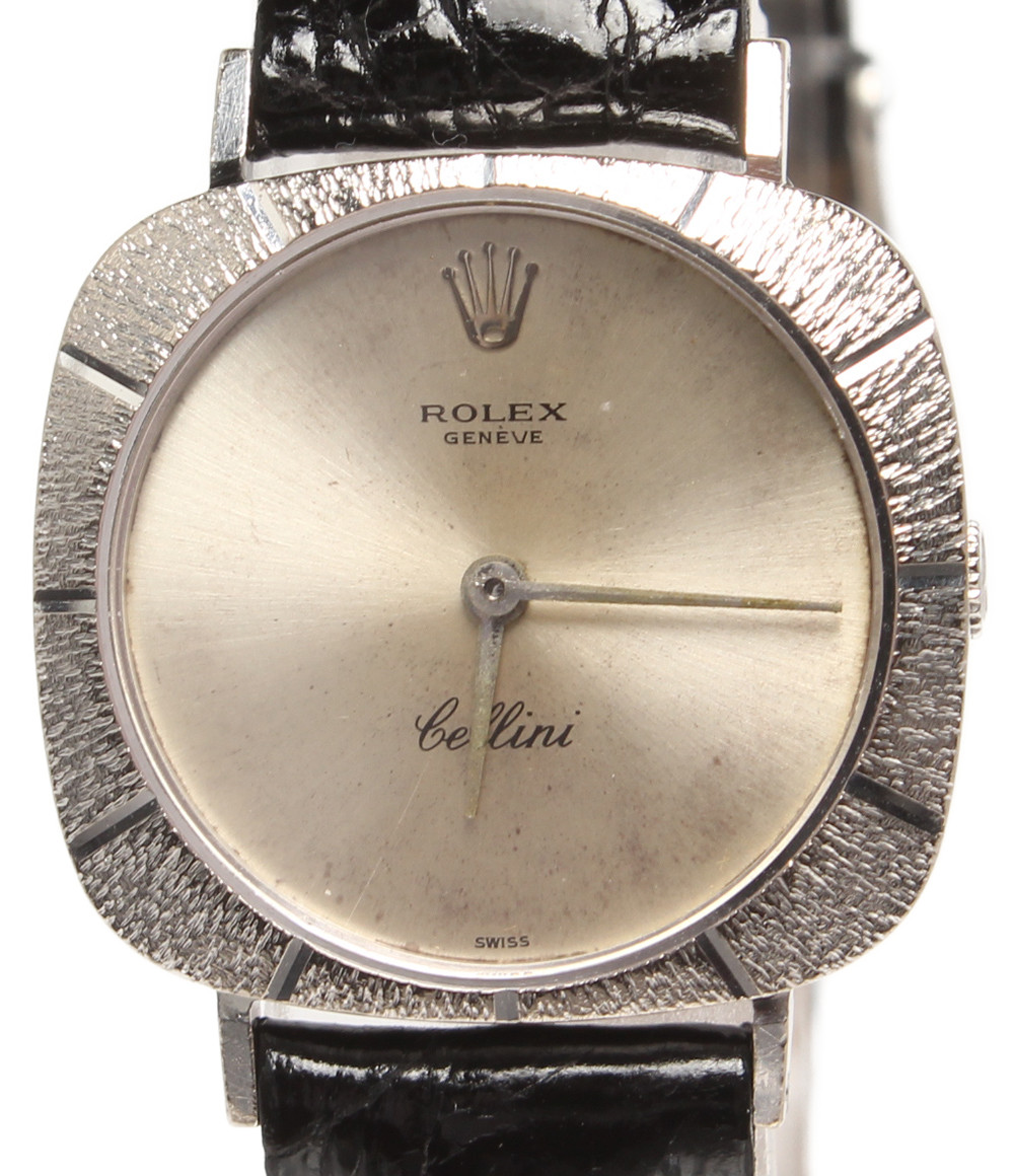【中古】ロレックス 腕時計 チェリーニ 手動巻き シルバー レディース ROLEX