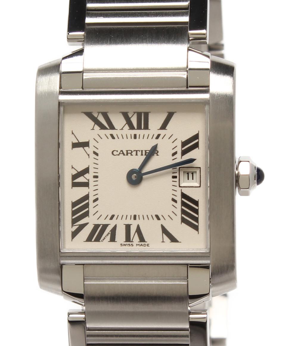 【中古】美品 カルティエ 腕時計 タンクフランセーズMM クオーツ W51011Q3 ユニセックス Cartier