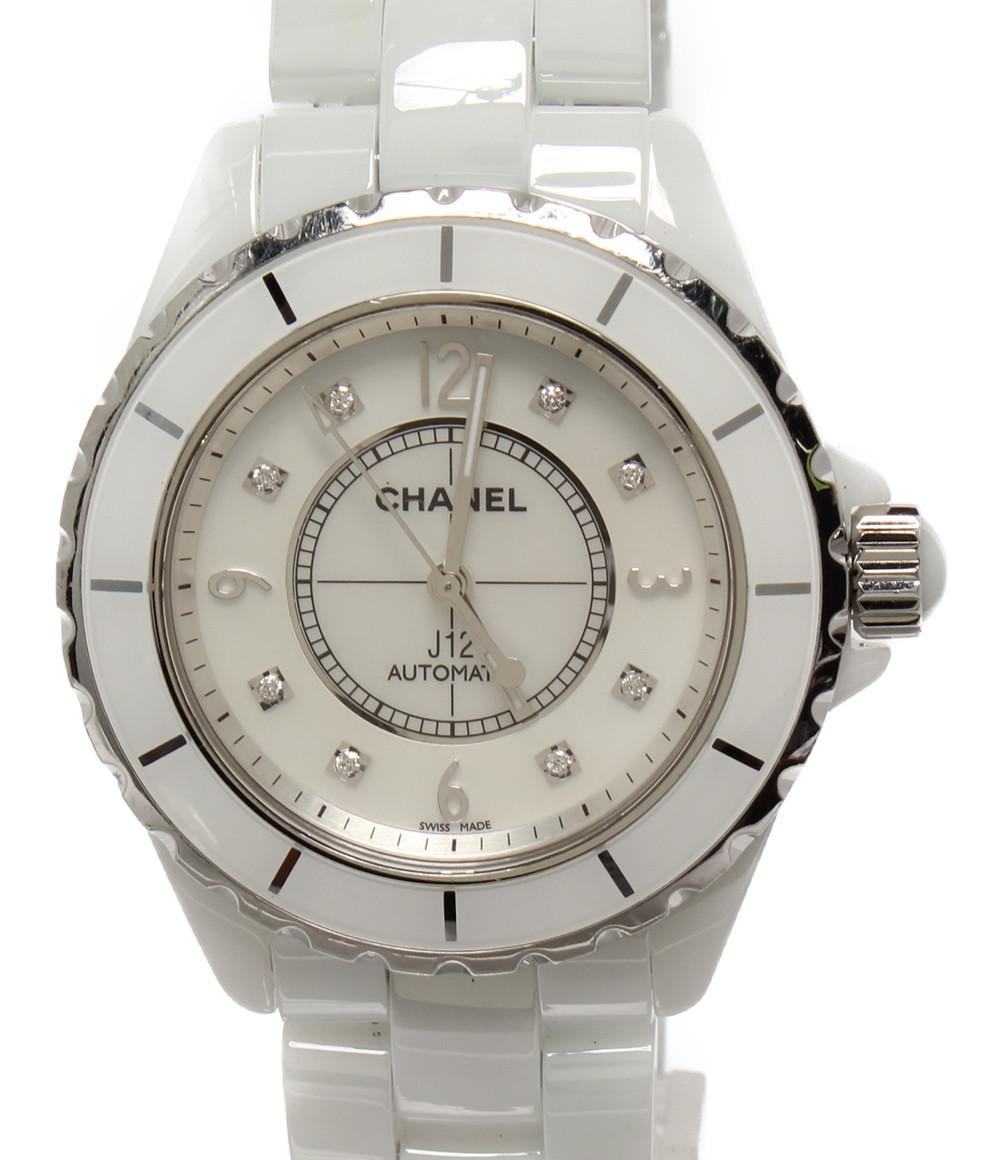 【中古】シャネル 腕時計 J12 自動巻き ホワイト H2423 メンズ CHANEL