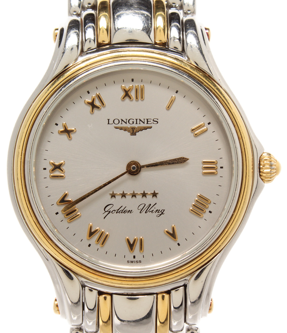 【中古】ロンジン 腕時計 ゴールデンウィング クオーツ L36055 メンズ LONGINES