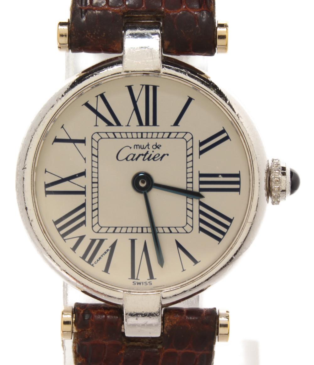 【中古】カルティエ 腕時計 サントスガルベ クオーツ CC115691 レディース Cartier