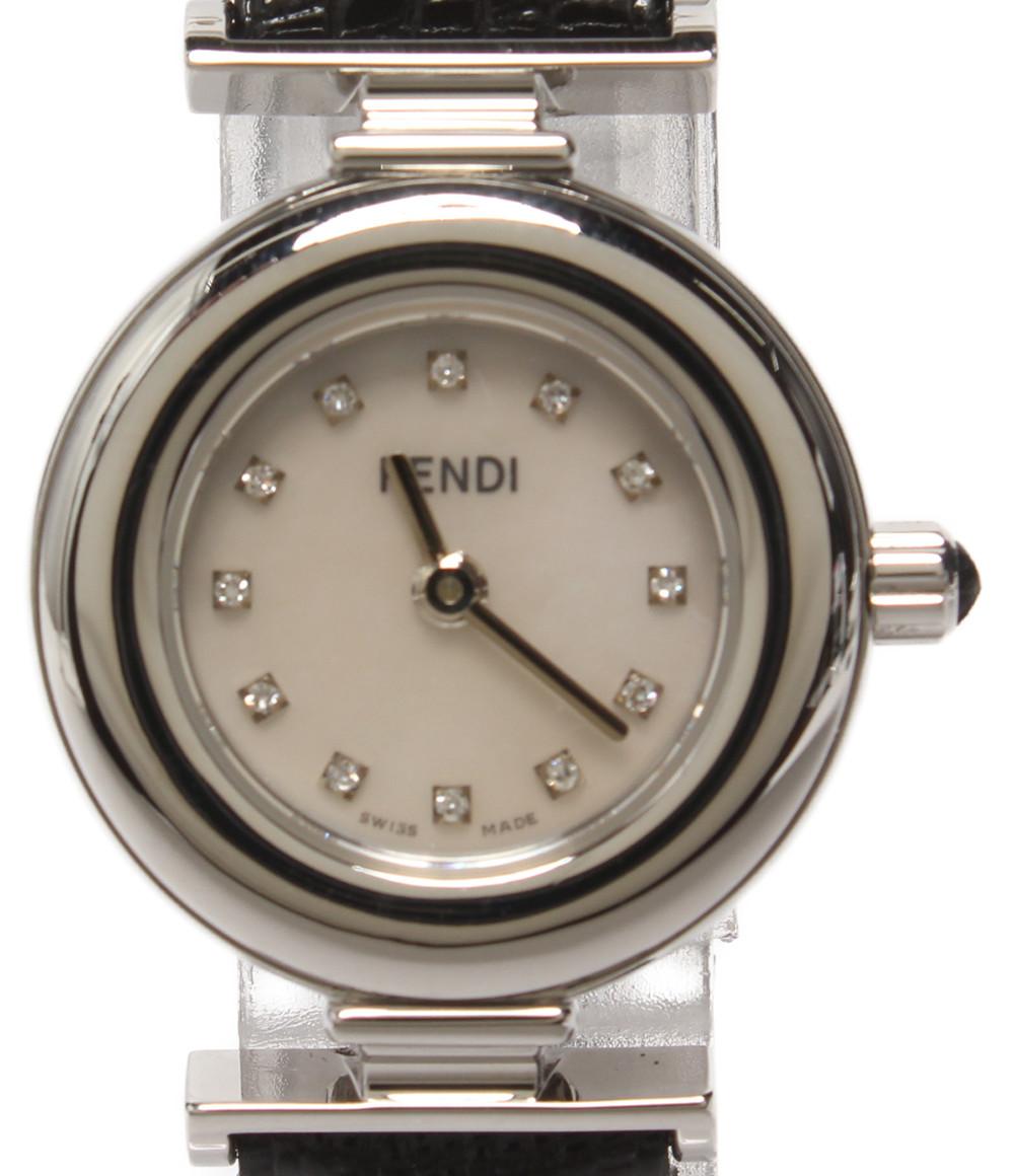 【中古】美品 フェンディ 腕時計 クオーツ シェル 093-320L レディース FENDI