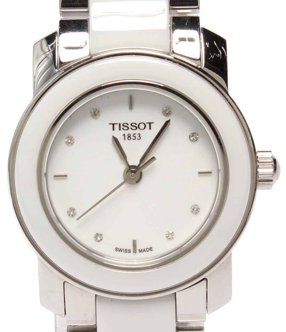 【中古】ティソ 腕時計 クオーツ ホワイト TO64210A レディース TISSOT