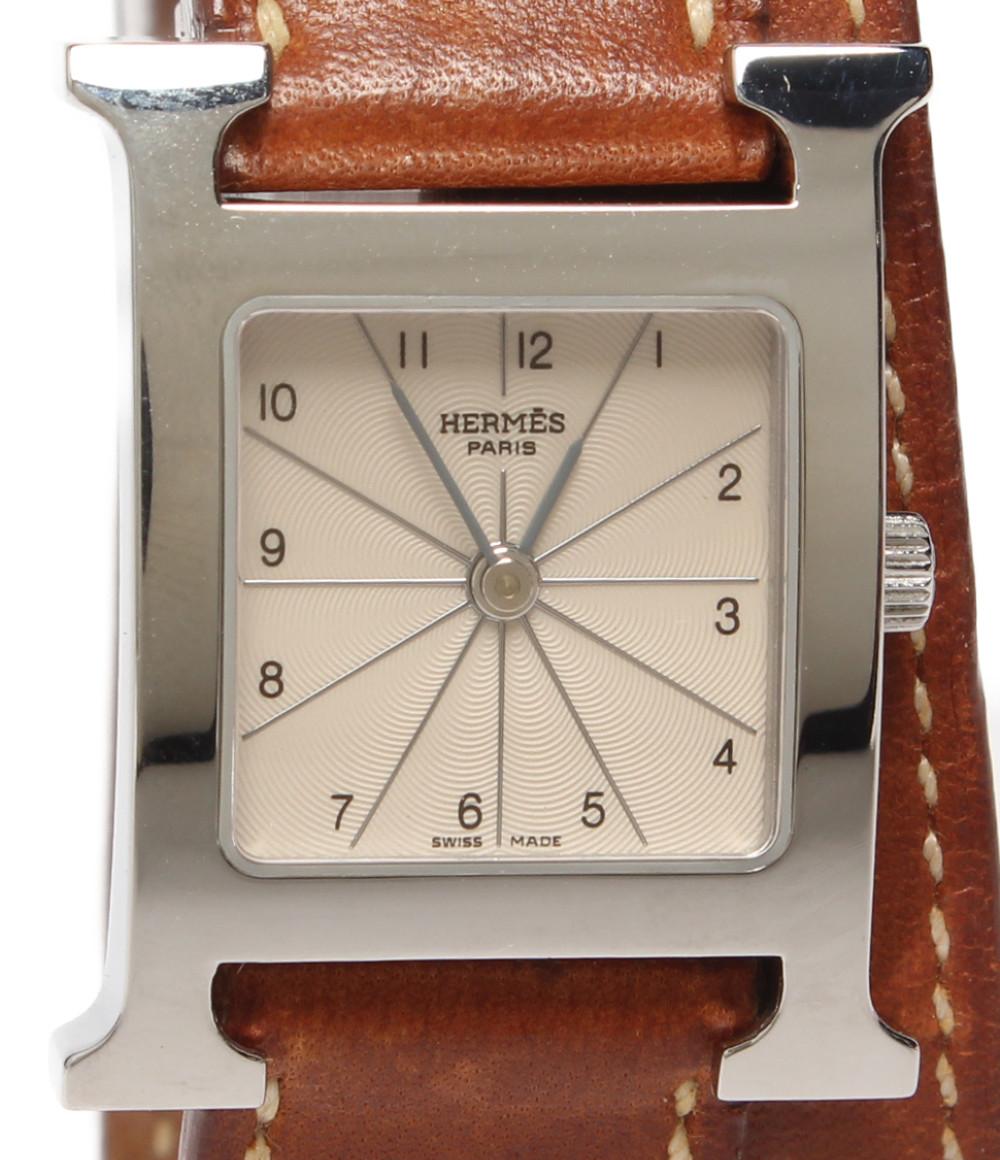【中古】エルメス 腕時計 □H刻印 Hウォッチ クオーツ HH1.210 レディース HERMES