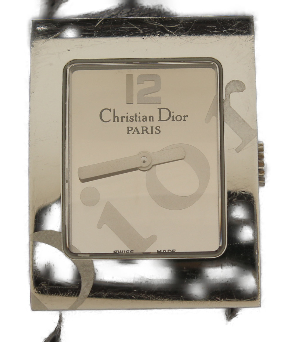 【中古】クリスチャンディオール 腕時計 マリス クオーツ シルバー レディース Christian Dior
