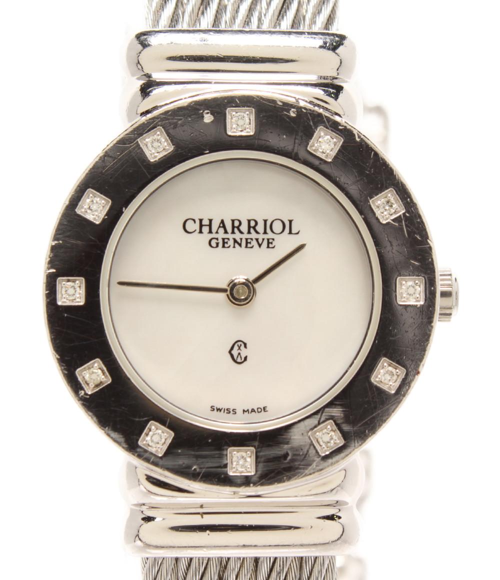 【中古】フィリップシャリオール 腕時計 クオーツ レディース PHILIPPE CHARRIOL