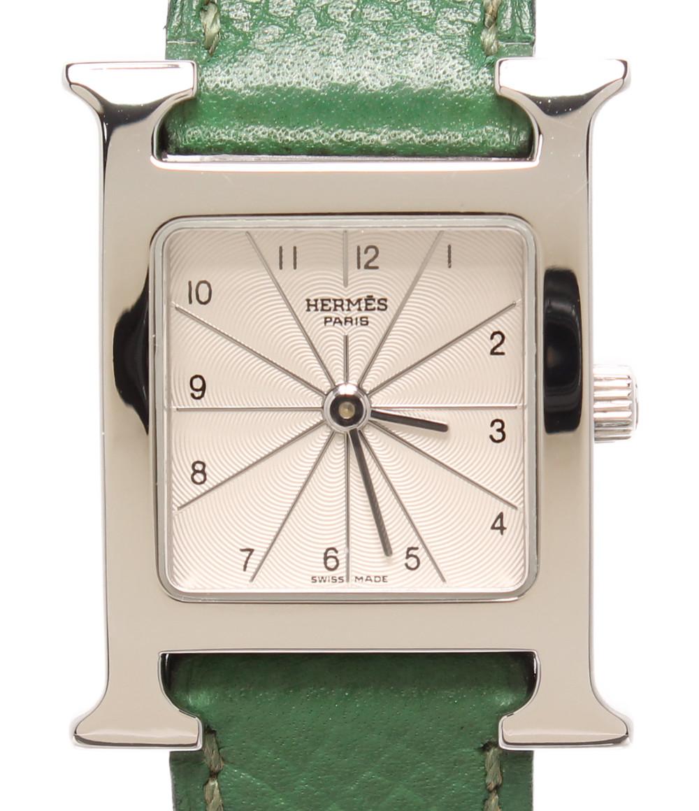 【中古】エルメス 腕時計 □A刻印 クオーツ HHI.210 レディース HERMES