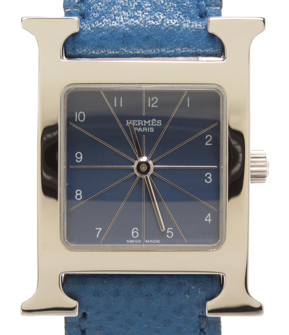 【中古】エルメス 腕時計 □A刻印 クオーツ ブルー HH1.210 レディース HERMES