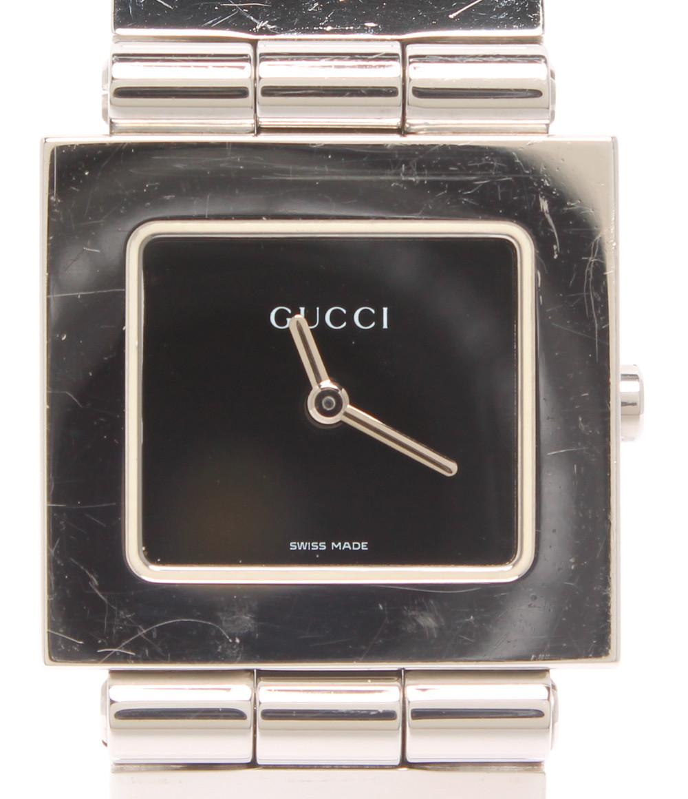 【中古】グッチ 腕時計 クオーツ ブラック レディース GUCCI
