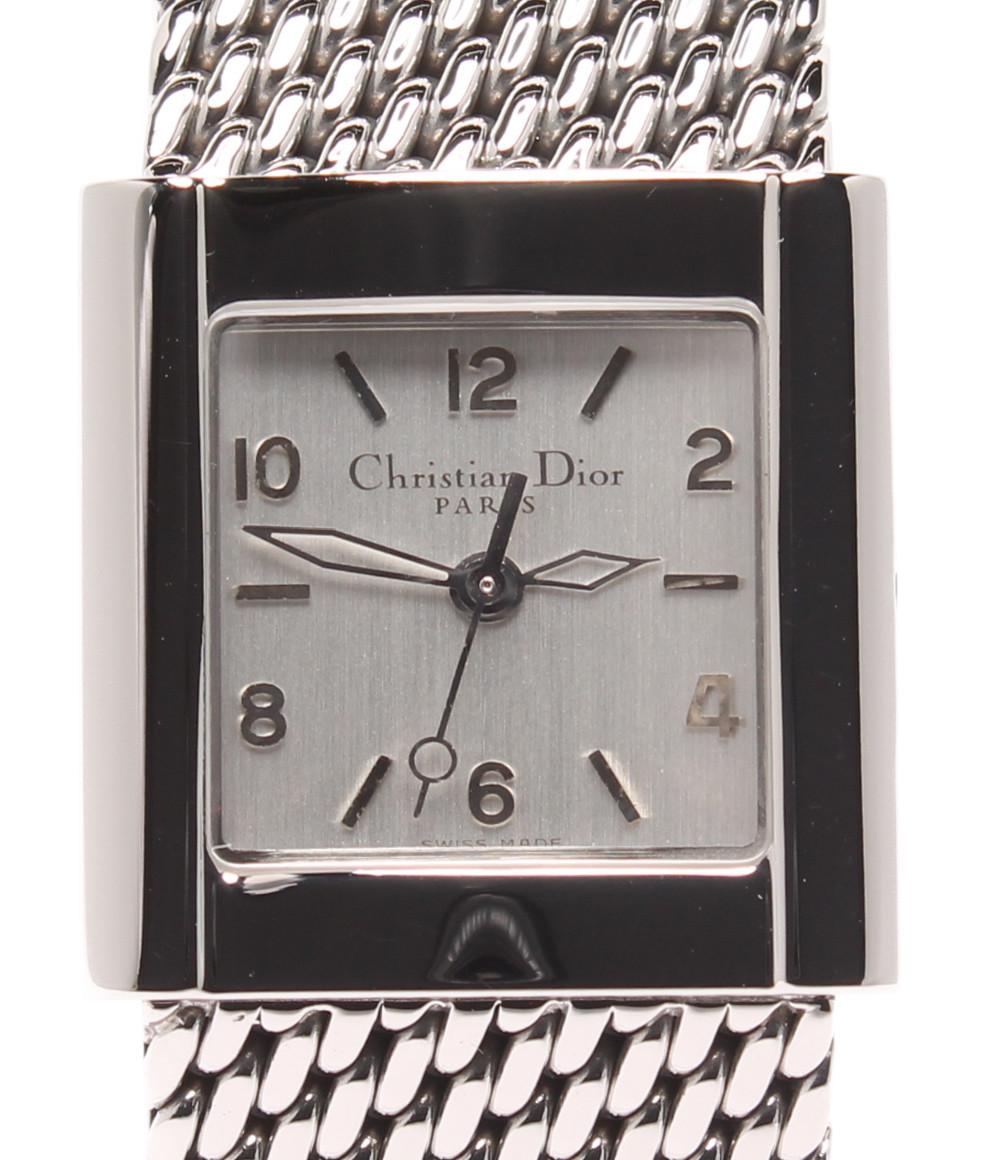 【中古】クリスチャンディオール 腕時計 リバ クオーツ シルバー D80-100 レディース Christian Dior