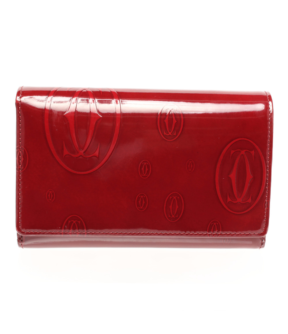 【5/5全品ポイント10倍】【中古】カルティエ 二つ折り財布 ハッピーバースデー レディース Cartier