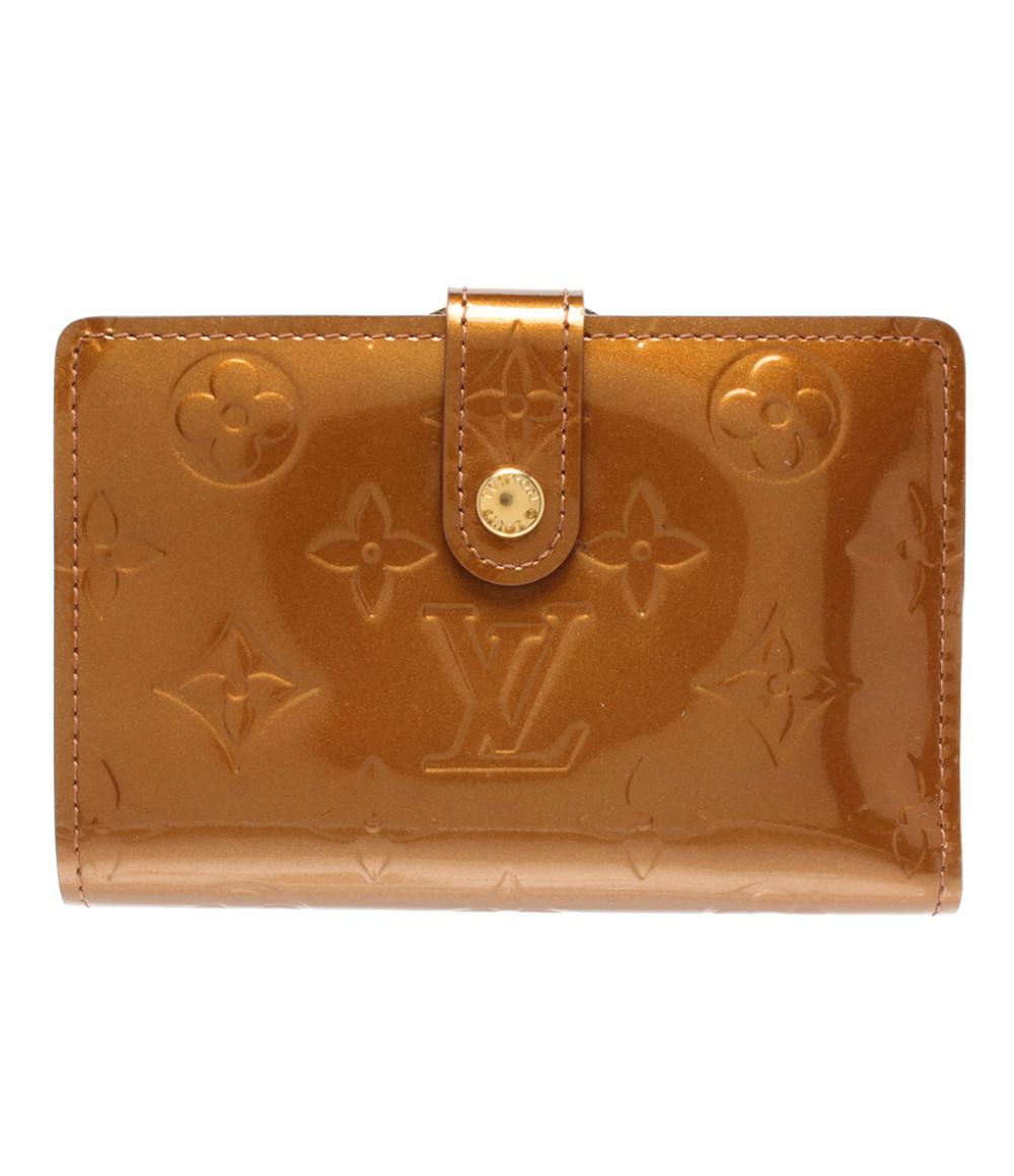 【中古】ルイヴィトン 二つ折り財布 ポルトモネビエヴィエノワ ヴェルニ M91209 レディース Louis Vuitton
