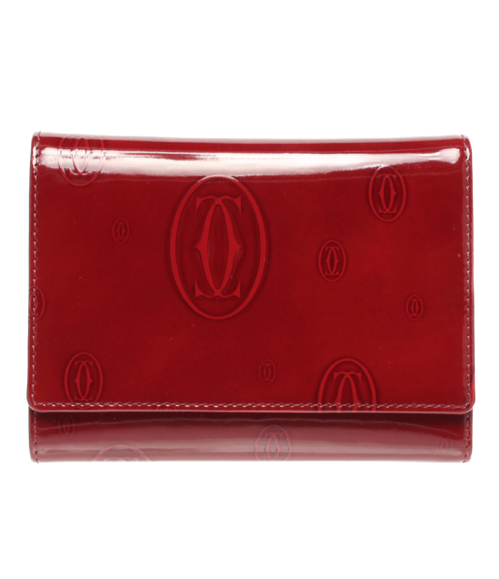 【5/5全品ポイント10倍】【中古】美品 カルティエ 三つ折り財布 Cartier その他 レディース Cartier