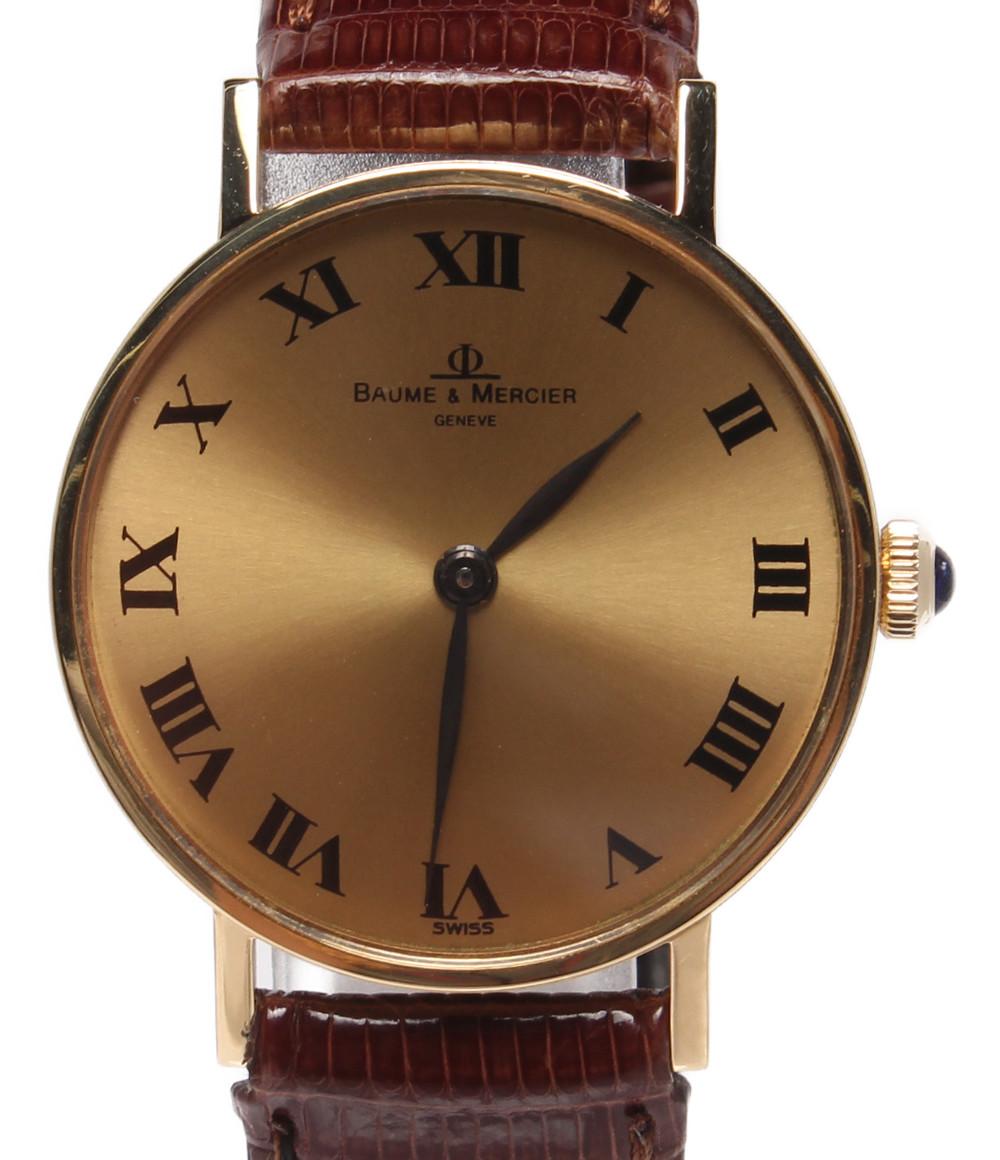 【中古】ボームアンドメルシエ 腕時計 手巻き ゴールド 35121 1 メンズ BAUME&MERCIER