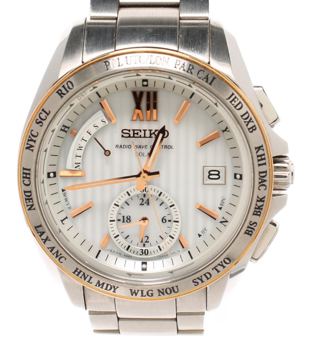 【中古】セイコー 腕時計 SAGA145 ソーラー 8B54-0AW0 メンズ SEIKO
