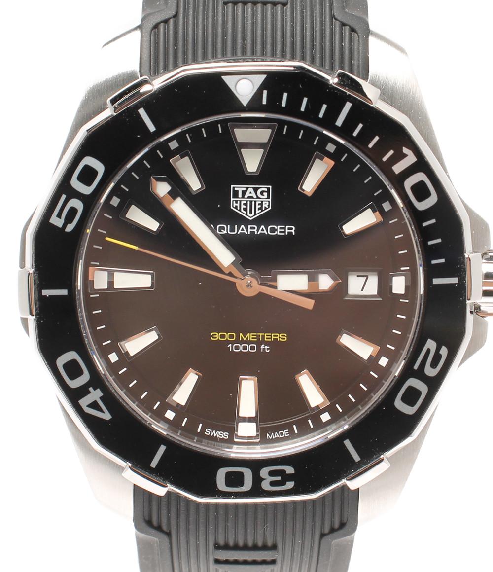 【中古】タグホイヤー 腕時計 AQUARACER クオーツ ブラック WAY111A メンズ TAG Heuer