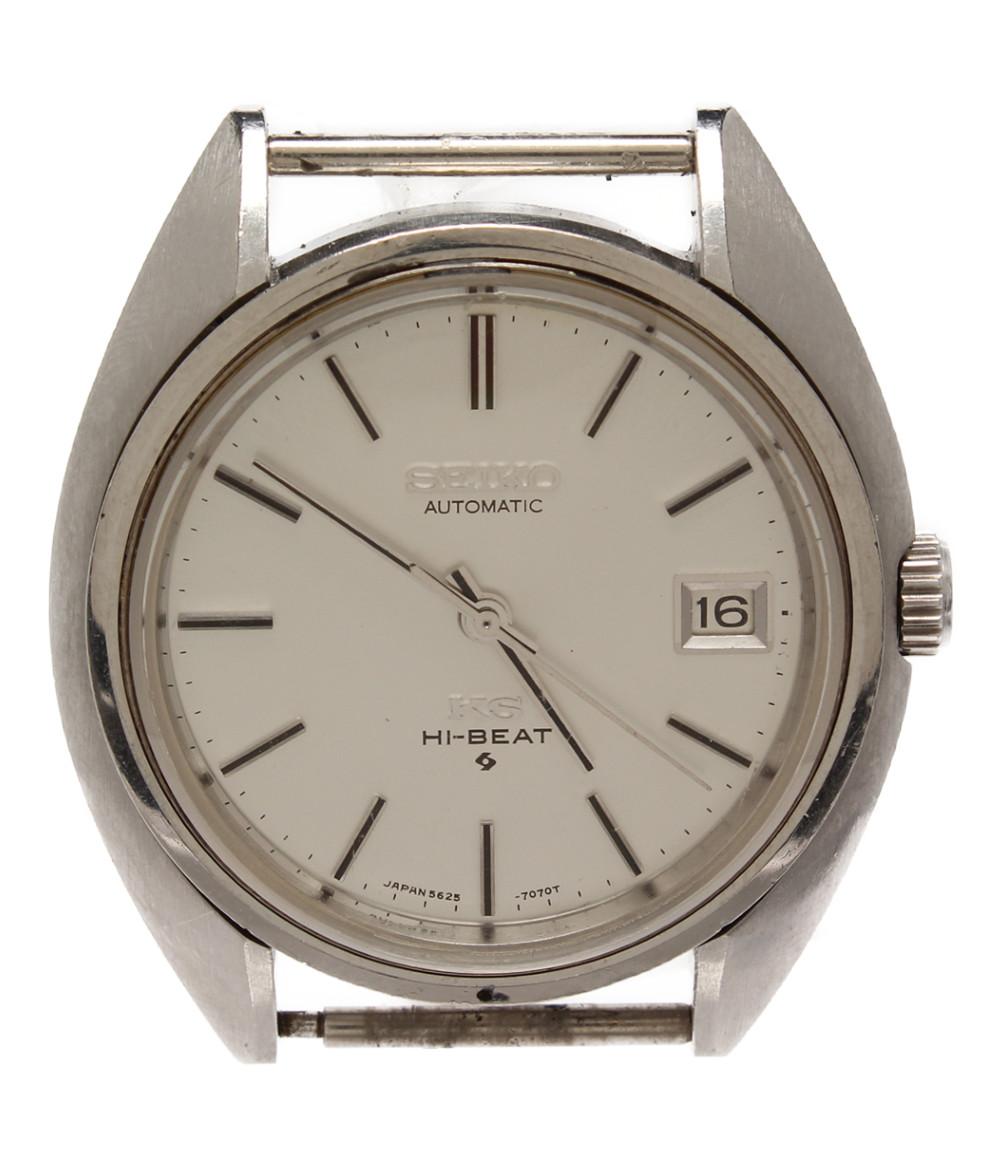【中古】訳あり セイコー 腕時計 HI-BEAT 自動巻き シルバー 5625-3080 メンズ SEIKO