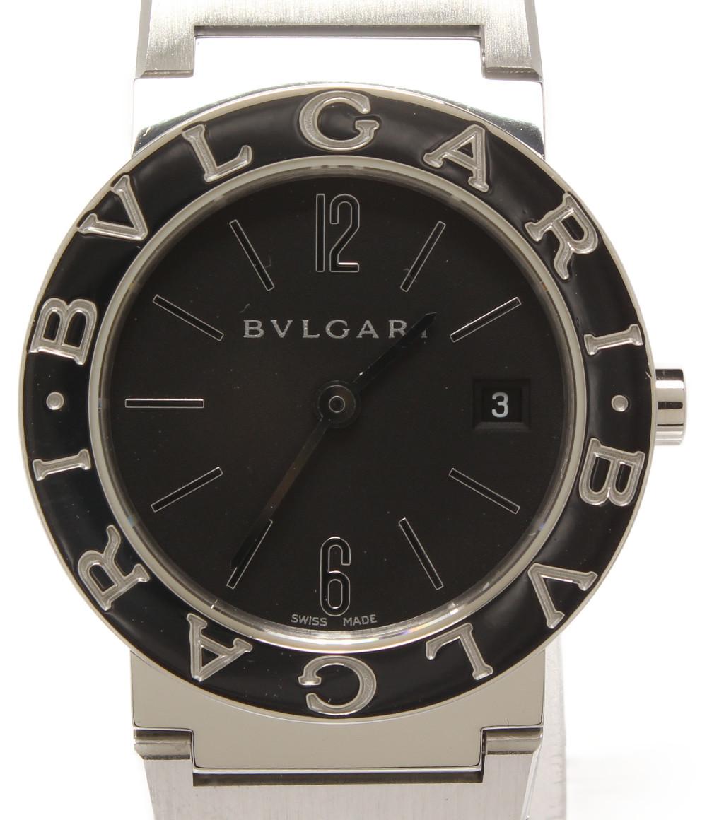【中古】ブルガリ 腕時計 クオーツ ブラック BB 26 SS レディース Bvlgari