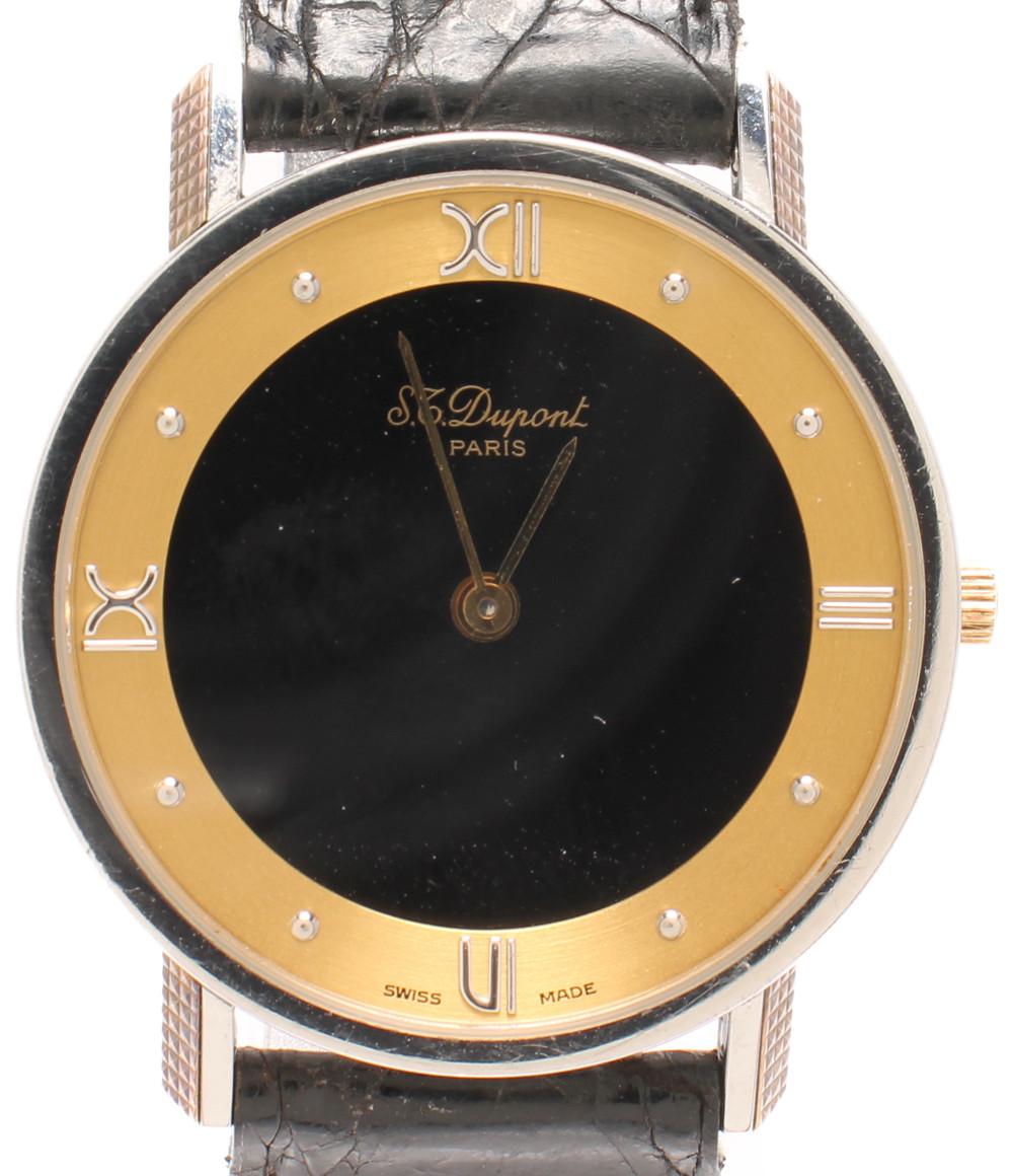 【中古】デュポン 腕時計 クオーツ ユニセックス Dupont