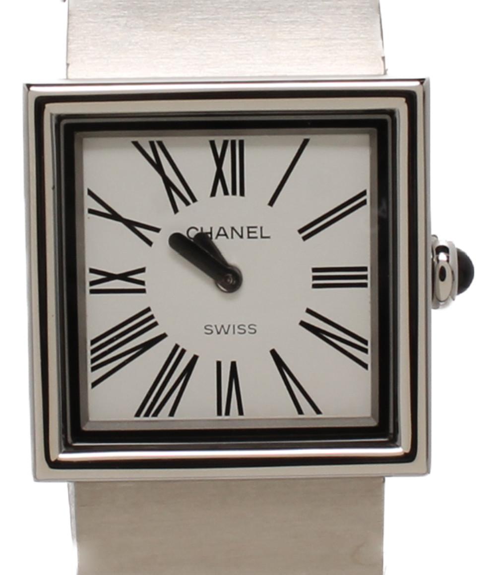 【中古】シャネル 腕時計 マドモアゼル クオーツ ホワイト H0827 レディース CHANEL