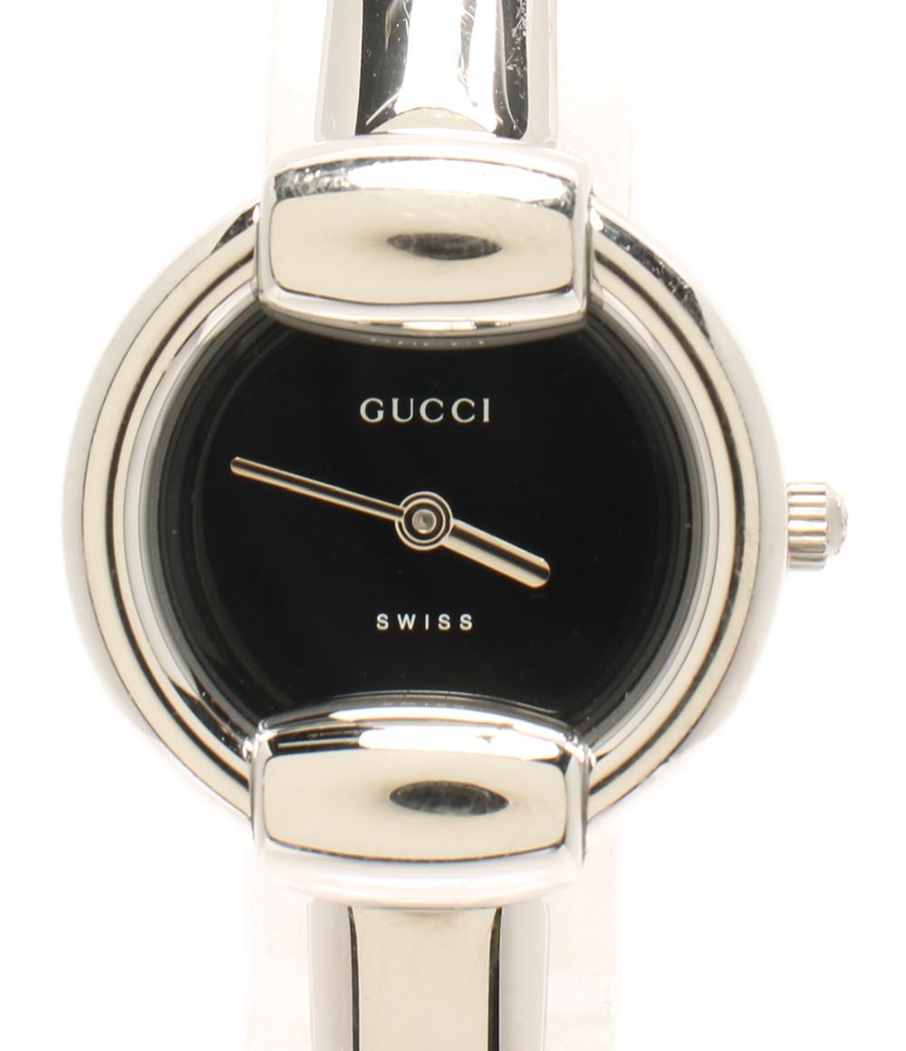 【中古】グッチ 腕時計 クオーツ ブラック 1400l レディース GUCCI