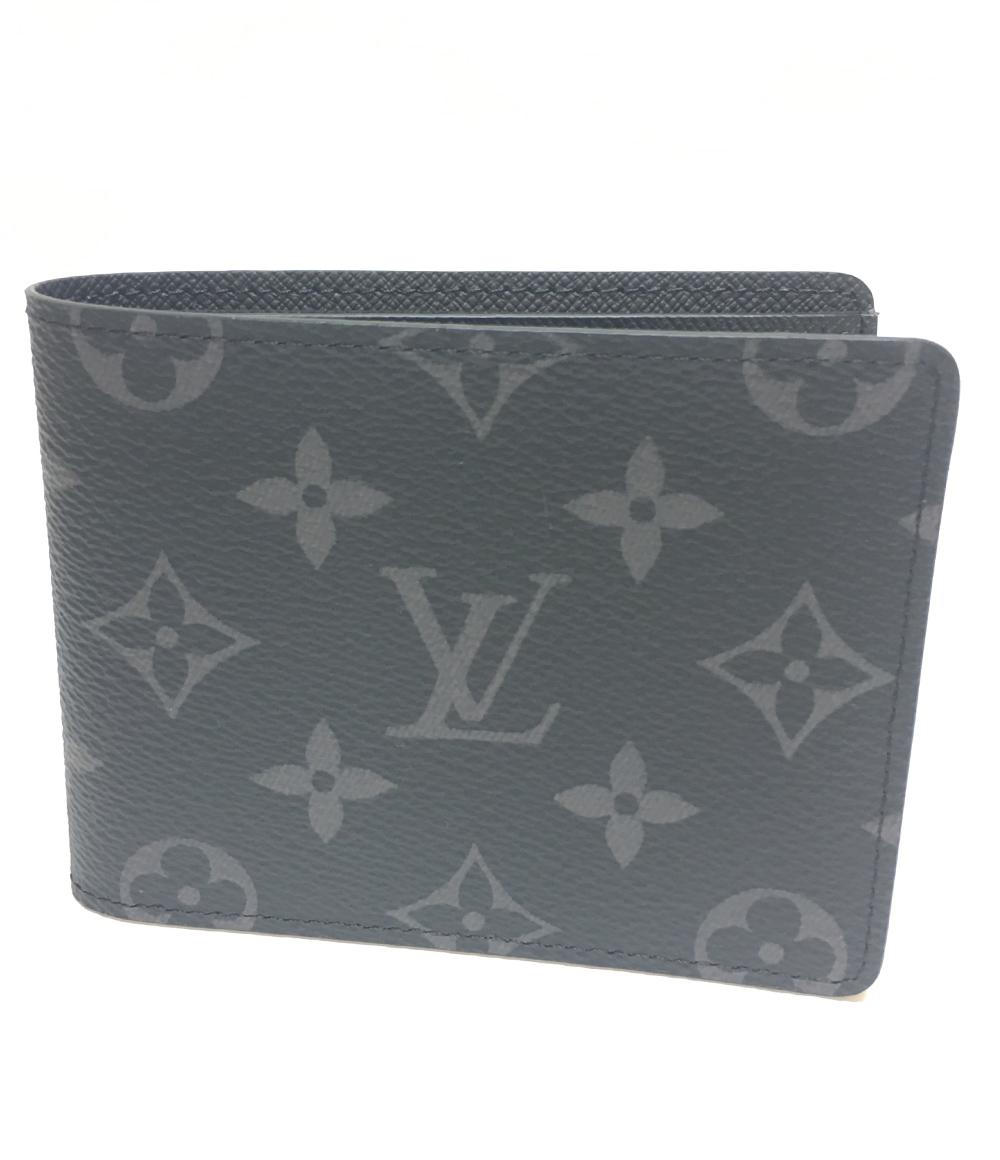 Vuitton M62294 二つ折り財布 ポルトフォイユ・スレンダー モノグラム メンズ Louis 【中古】美品 ルイヴィトン