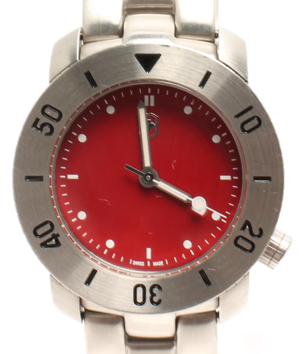 【中古】ビクトリノックス 腕時計 クオーツ レッド V7-11 メンズ VICTORINOX
