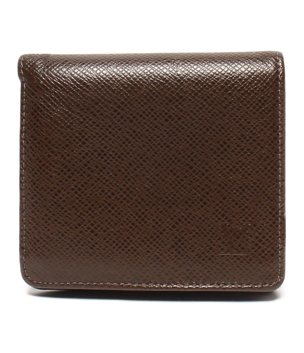 二つ折り財布 M30458 メンズ タイガ Vuitton ポルトビエ3カルトクレディ Louis 【中古】ルイヴィトン