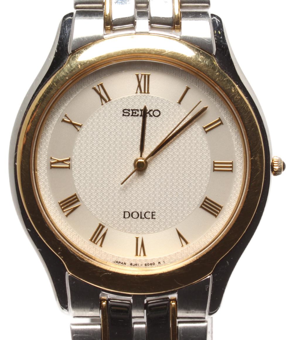 【中古】セイコー 腕時計 ドルチェ クオーツ 8J41-6030 メンズ SEIKO